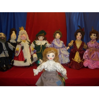 Комплект перчаточных кукол к сказке Золушка