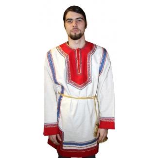 Рубашка мужская фольклорная (лен)